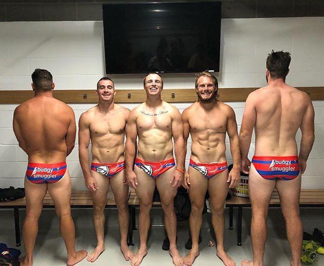 Knights locker room! #footyshorts #footyboys #footy #speedos #gym #muscle Follow @footyboys