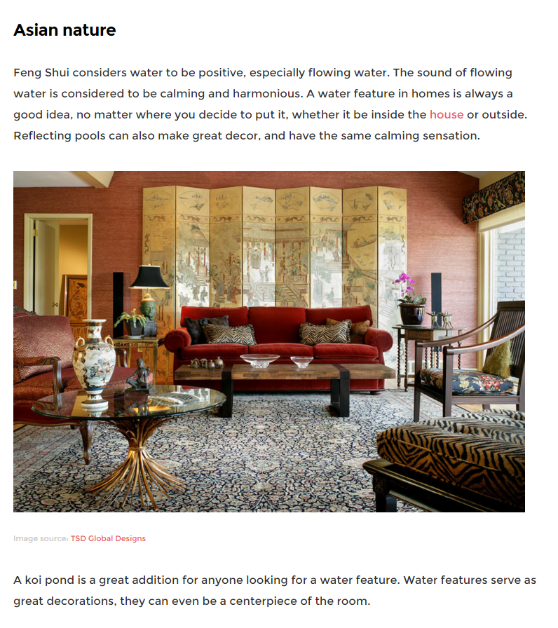 "FEATURED WORK - Tamara Sayago Dunner Global Design was included in Impressive Interior Design's recent article, ""Asian Home Interior Decorating Ideas"""