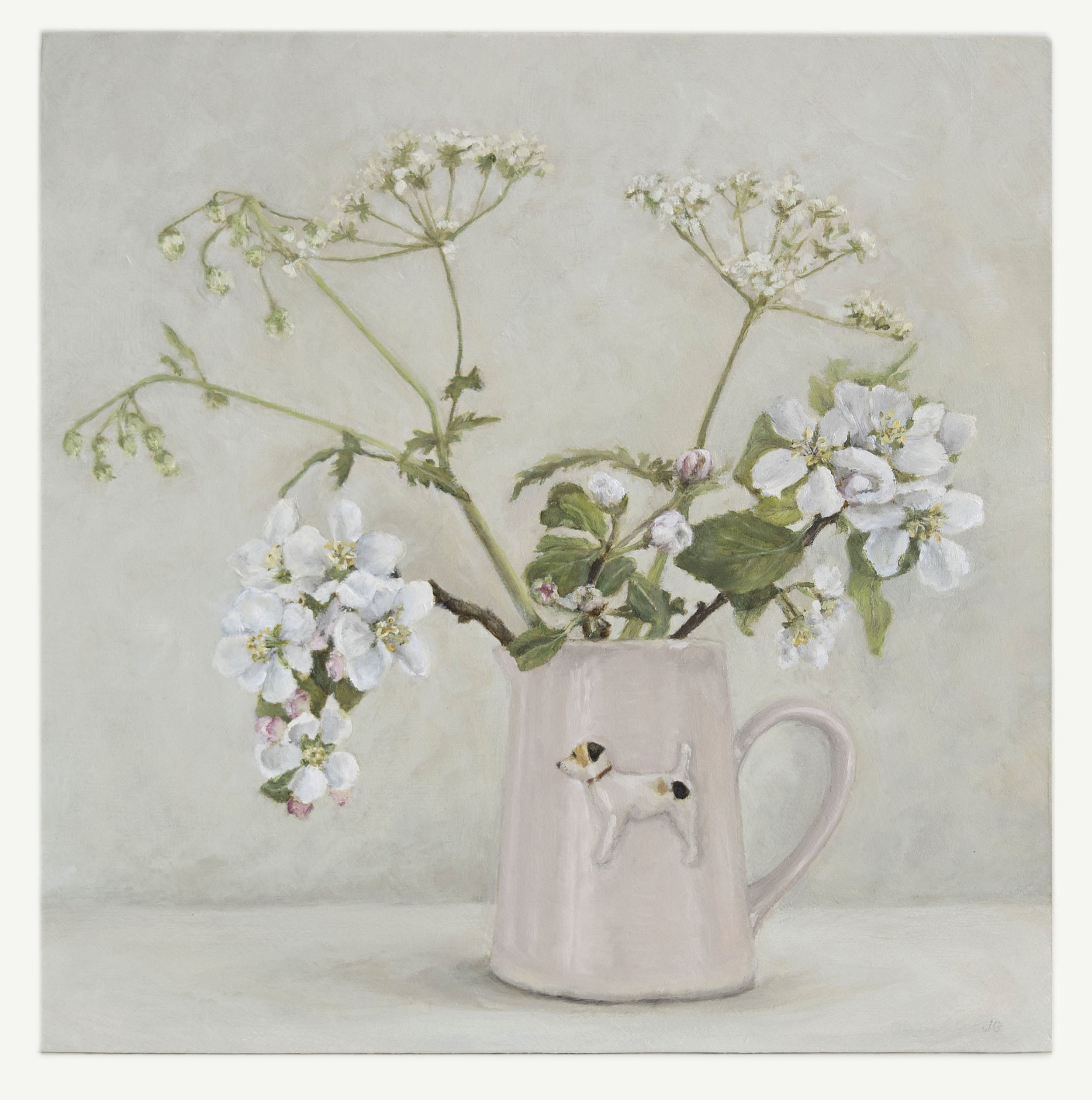 Original Jack Russell and Wild Blossom painting – still available