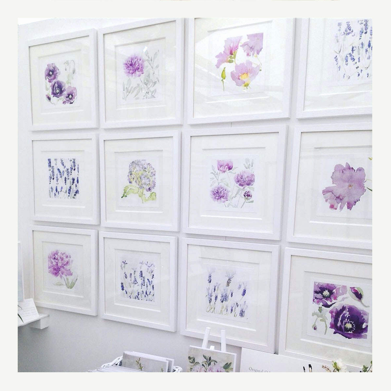 Floral wall at Daylesford Organic Farm Shop