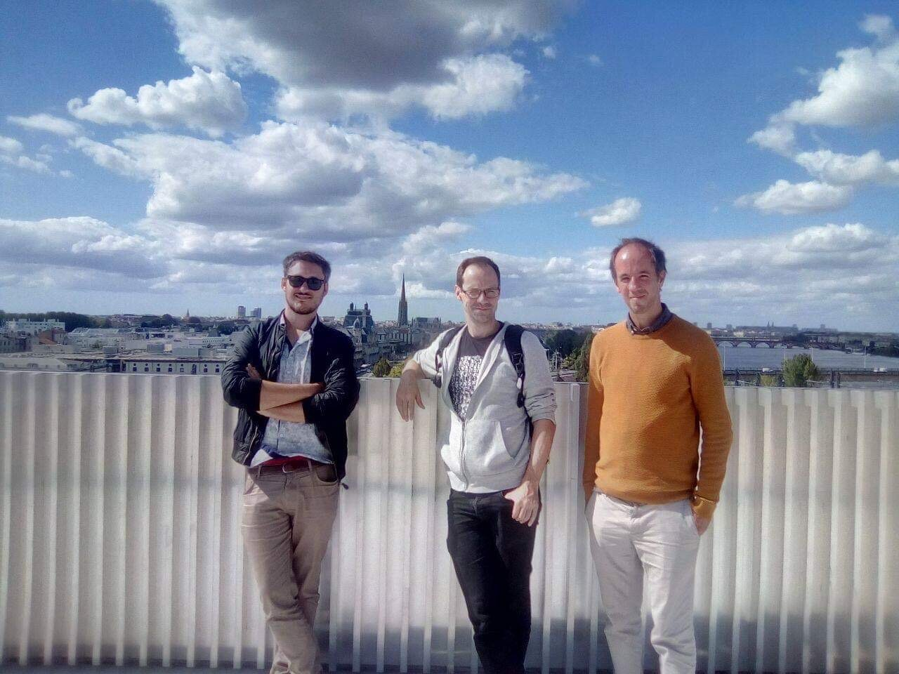 Clément Simon, Julien Dubois et Thomas Julienne, de gauche à droite.
