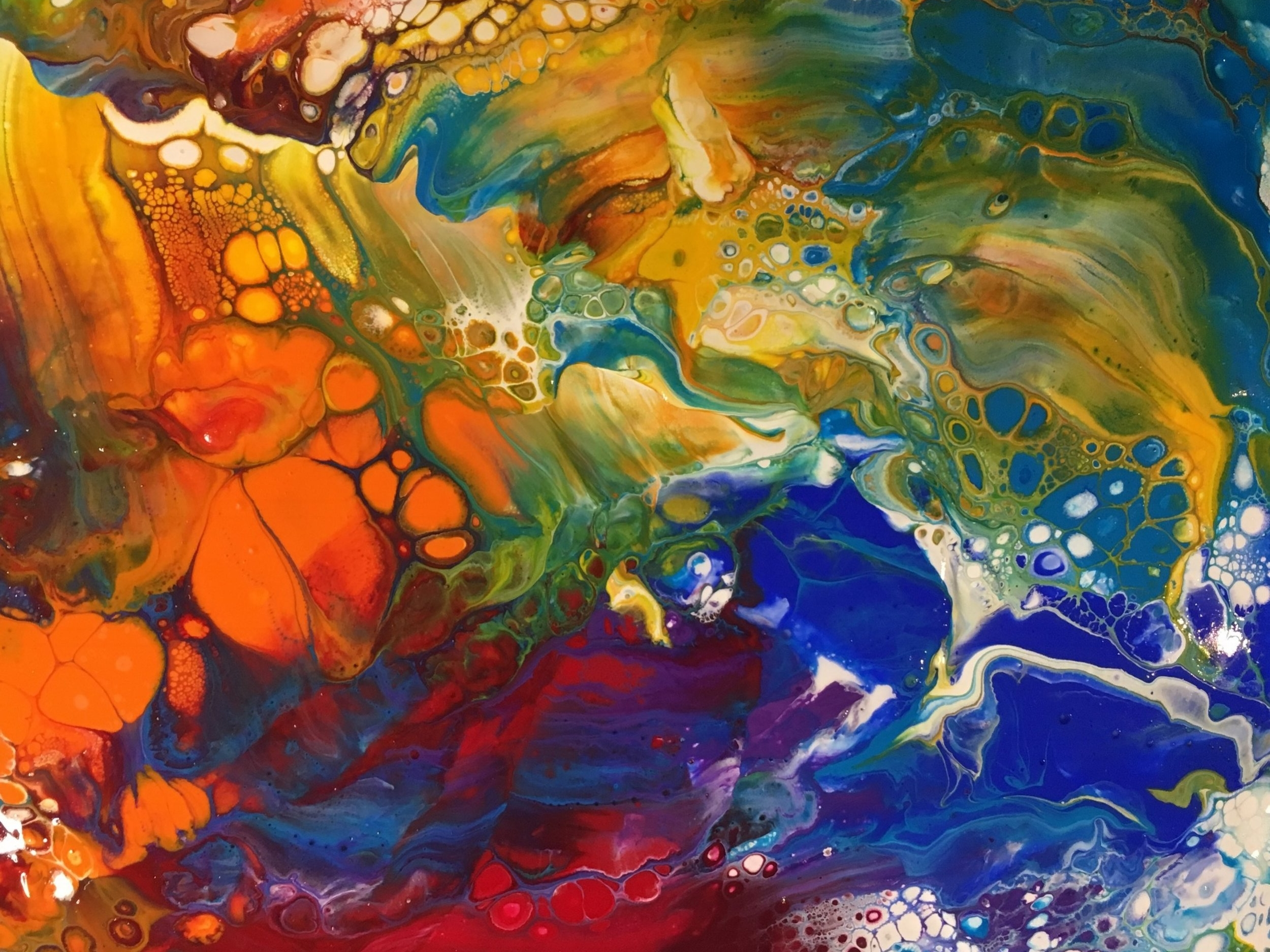 Fluid Art with Gravity Science