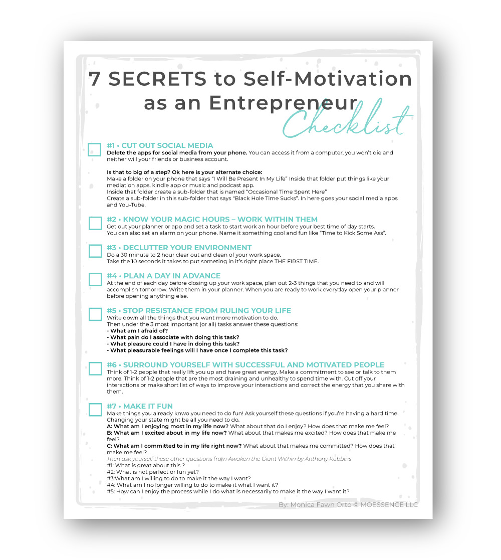 7 SECRETS to Self-Motivation as an Entrepreneur • Simple Ways to