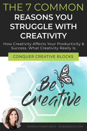 7 REASONS YOU STRUGGLE WITH CREATIVITY Read this post to learn: How can you increase your creativity? Creativity's affect on your stress, success and problem solving. What is creativity? The importance of creativity. Are you naturally not creative? How to overcome these 7 common creative blocks.