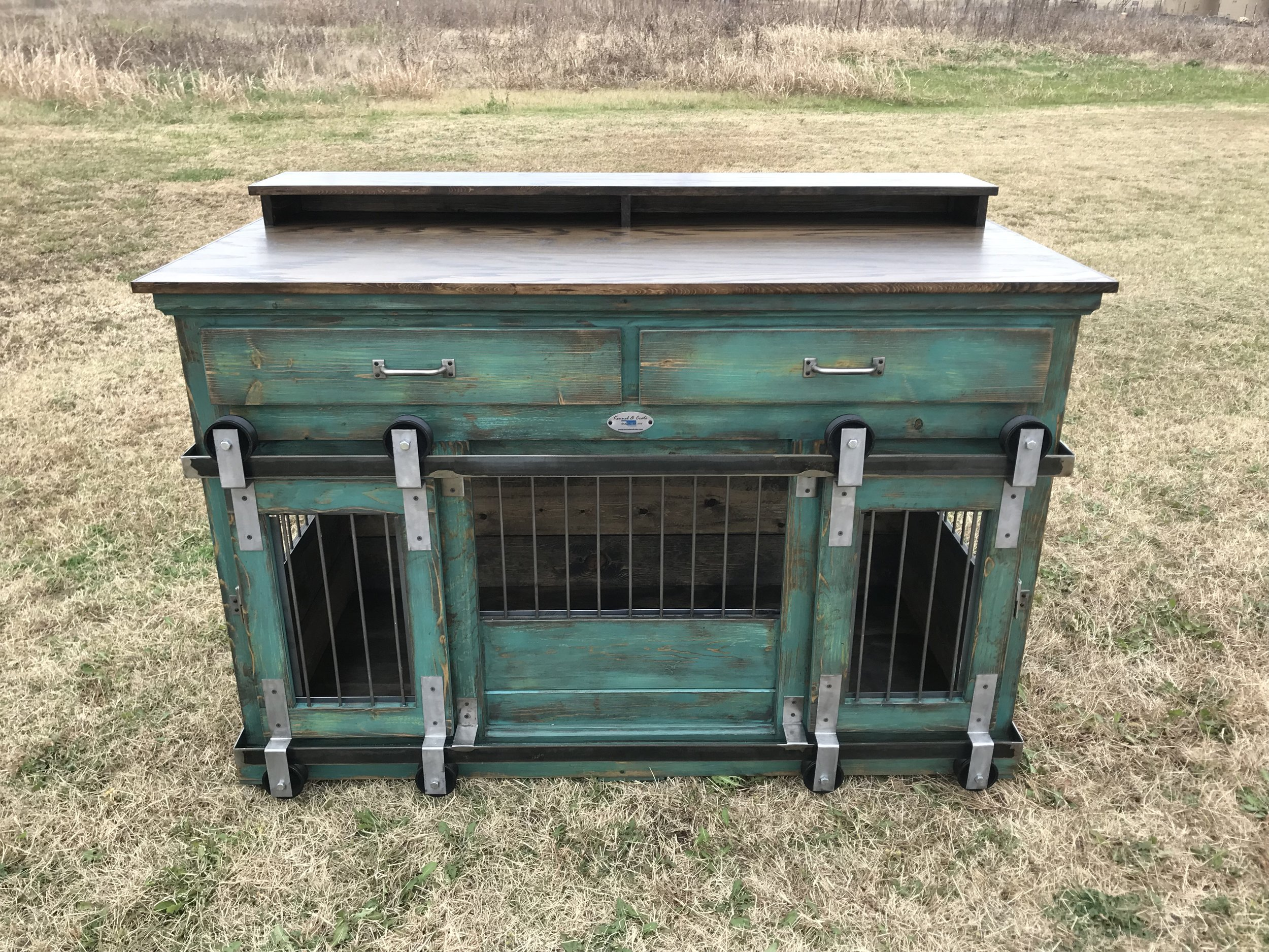 Medium Double, Peacock, Distressed, Shelf, Tennesee