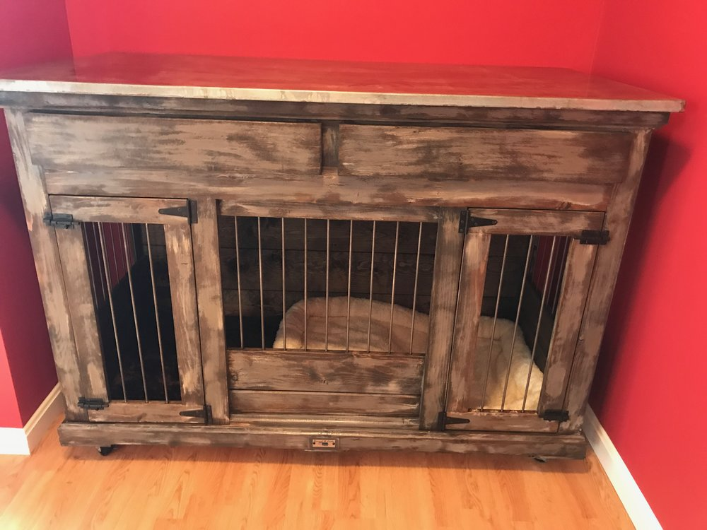 Luxury Dog Kennels-Double+Medium+Open+front+Drawers+Weathered.jpg