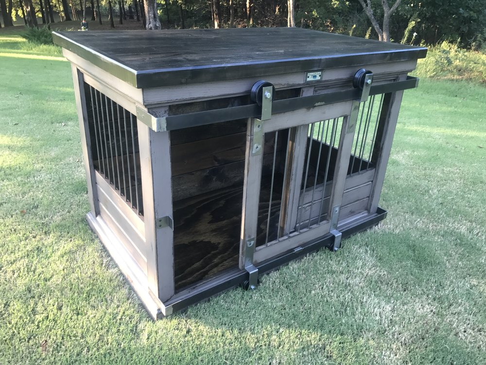 Stylish Dog Crates-Iron+Gate+Single+XL+Tennessee+Alder+Top.jpg