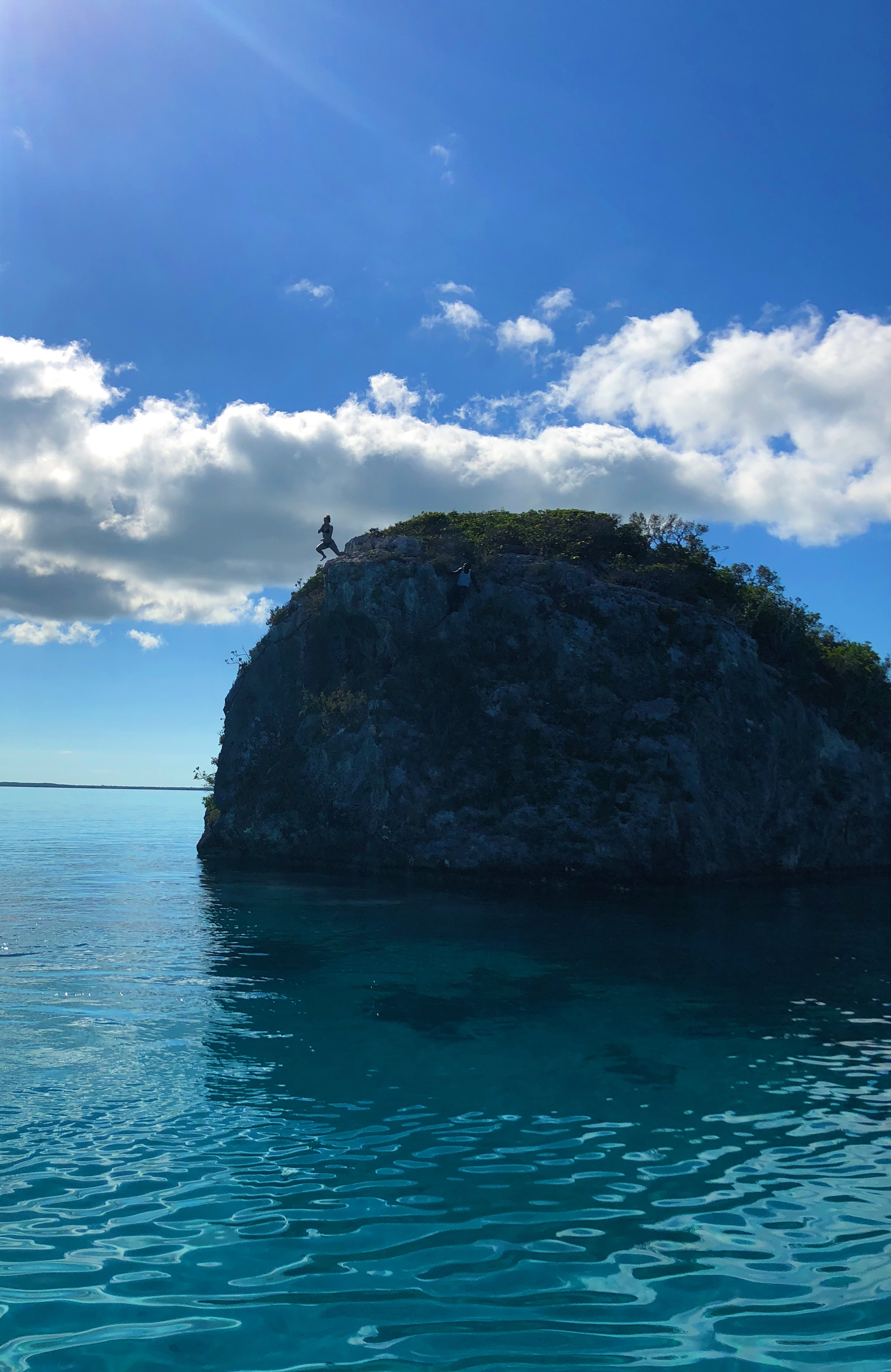 That's me... jumping off a 40 ft. cliff in the Bahamas
