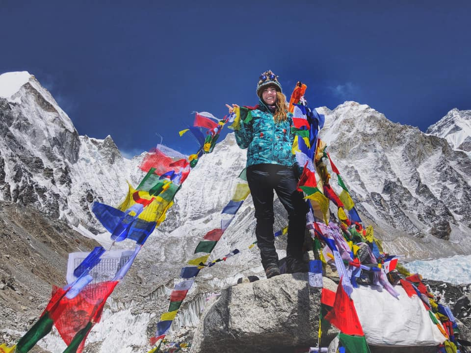 Me at Mt. Everest Base Camp…. around 17,600 ft.