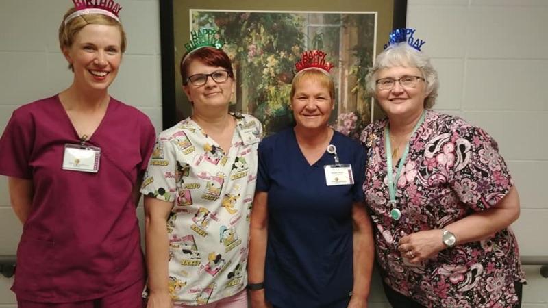 Staff celebrating birthdays!