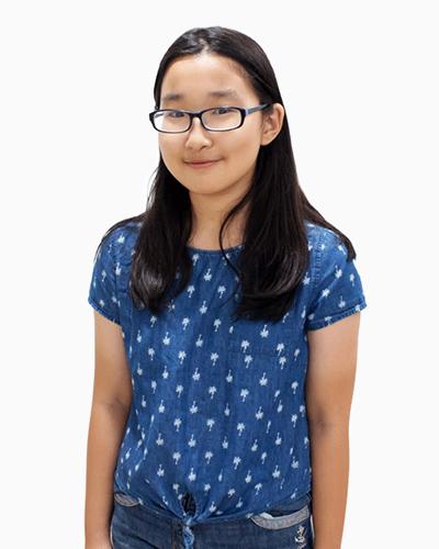 Nina Zhou scored A* in Chinese PSLE 2017