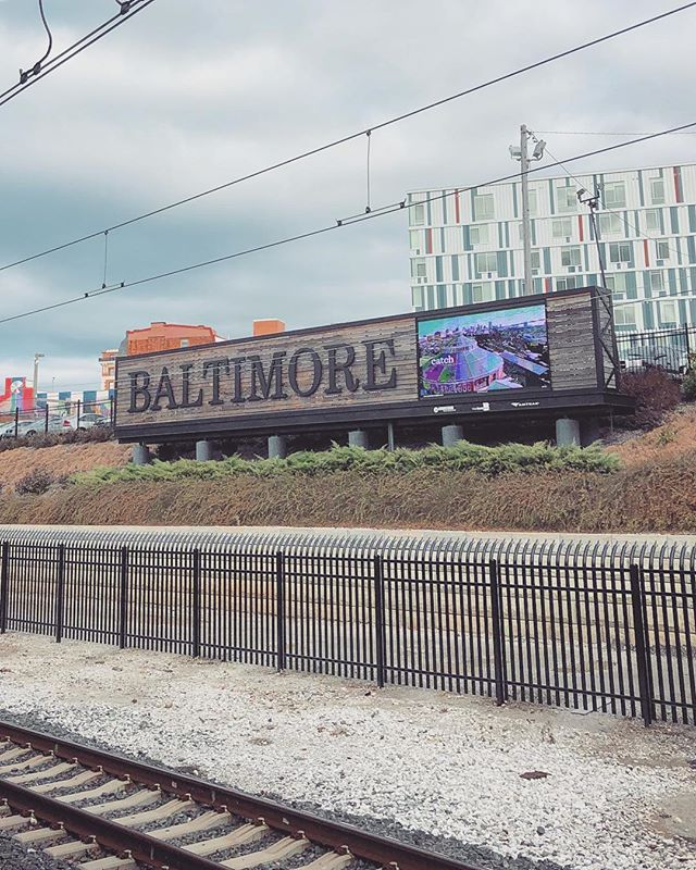 Heading north... 🚊 #mybmore #nycbound #pennstation #baltimore