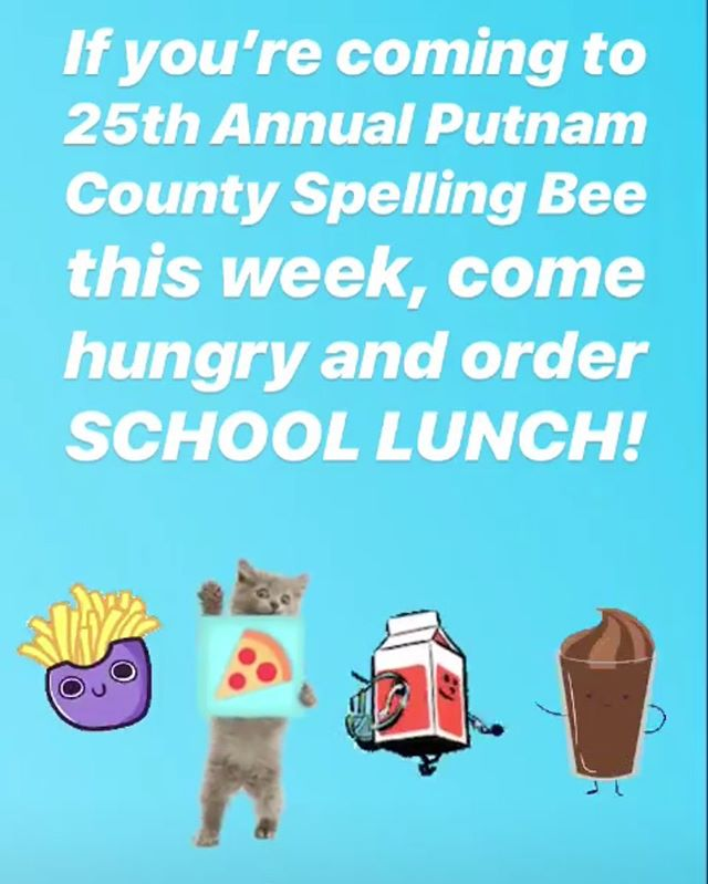 Get out of here!  Vermont Comedy Club is offering a grown up version of school lunch at Spelling Bee this week!  Dinner theatre folks, dinner theatre!!!!