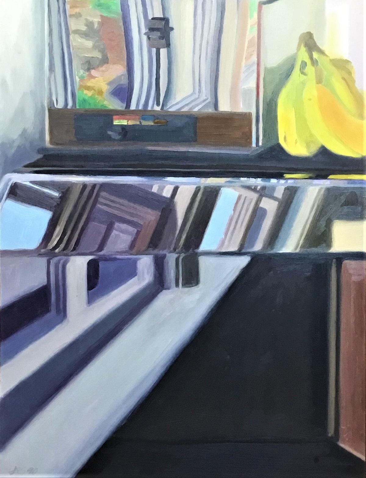 """Banana Logic I , oil on panel, 20"""" x 15"""", 1990"""