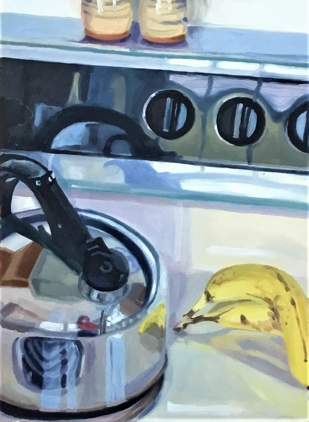 """Banana Logic II , oil on panel,20""""x 15"""", 1990"""