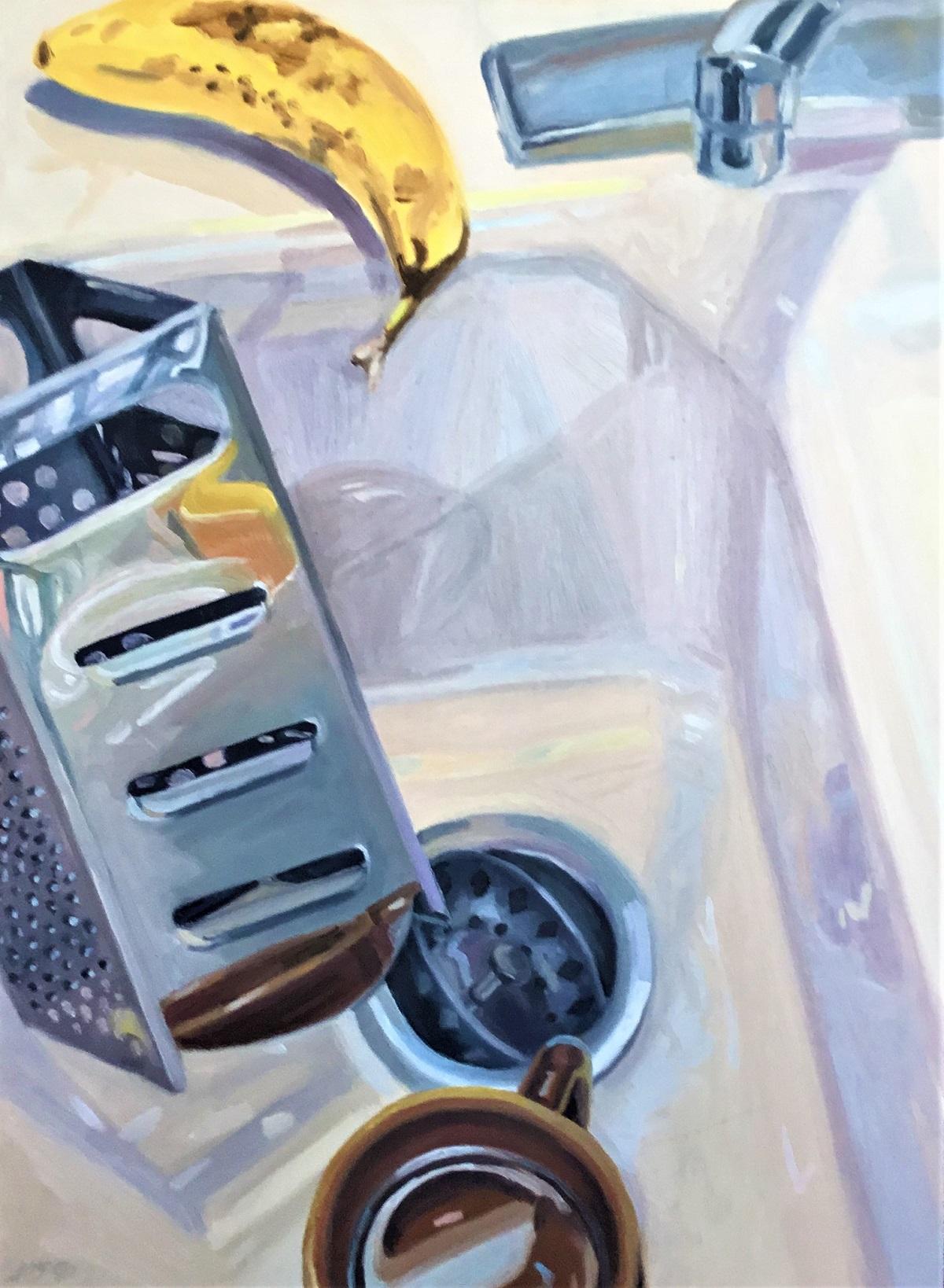 """Banana Logic III , oil on panel, 20"""" x 15"""", 1990"""