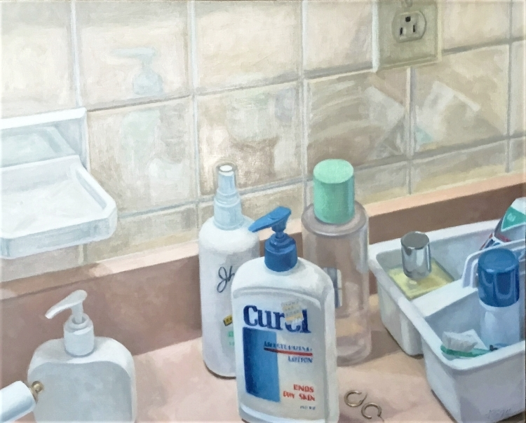 "Portrait of Toiletry , oil on panel, 16"" x 20"", 1994"