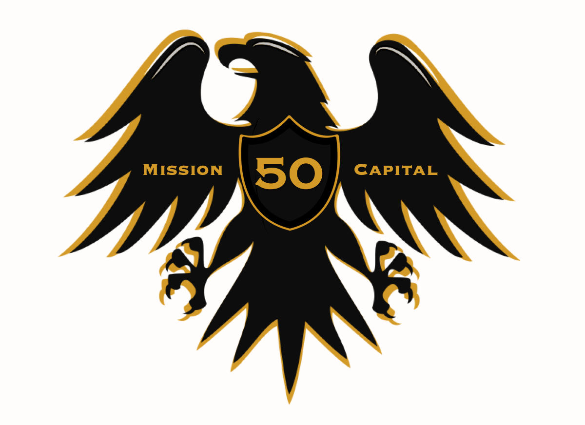 Fifty Mission Logo - Black on White.png