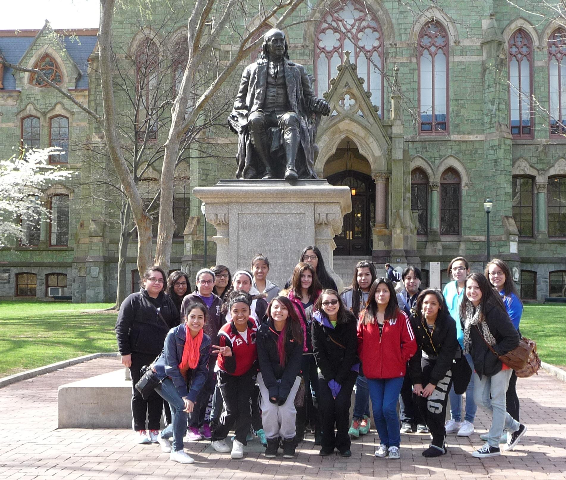 Summit High School College Bound students visit the University of Pennsylvania in Philadelphia.