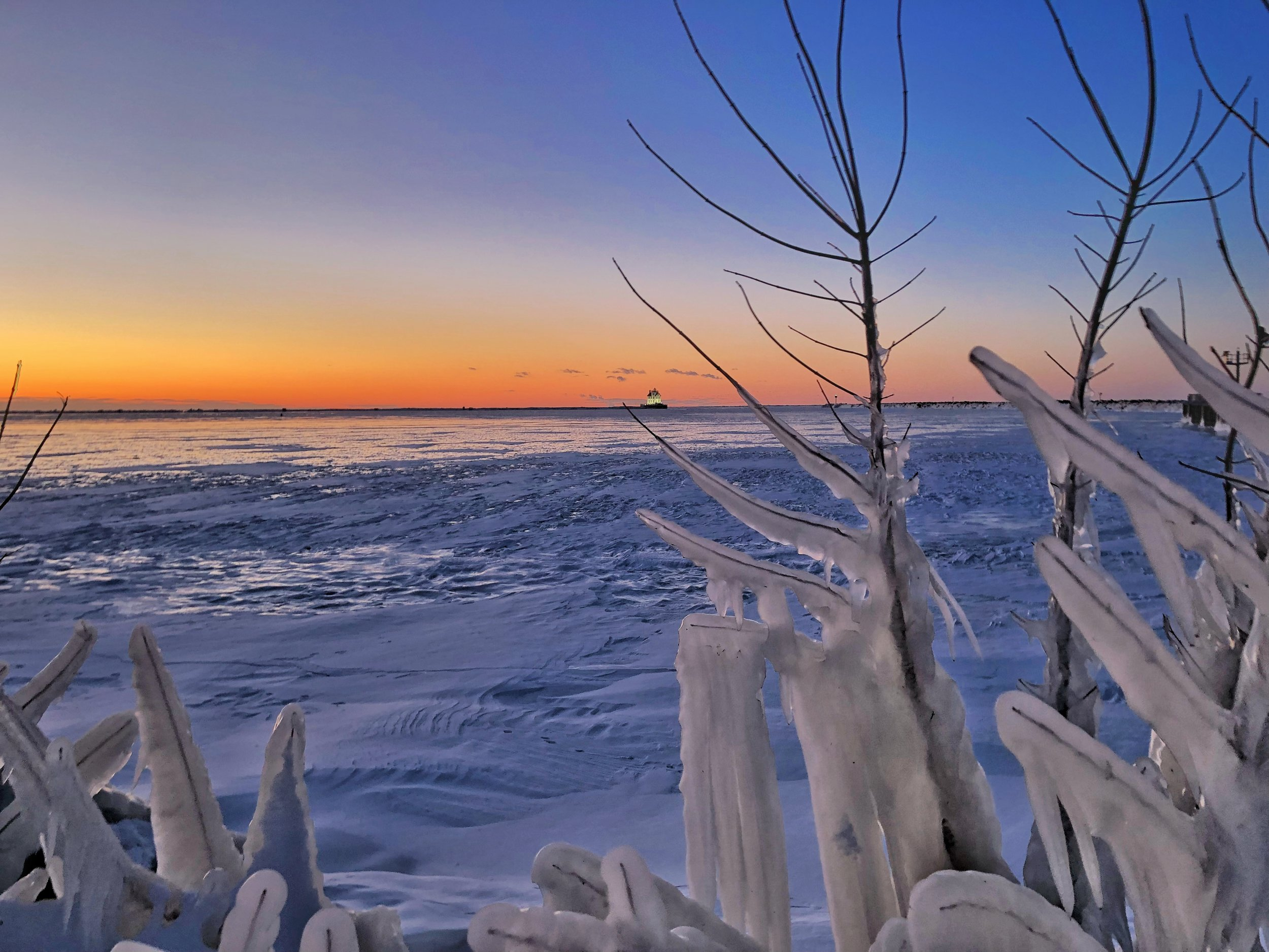 Frozen Lake Eerie.