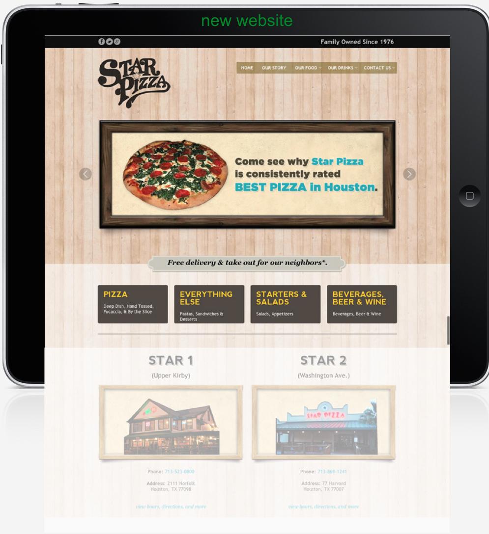 Current tablet website