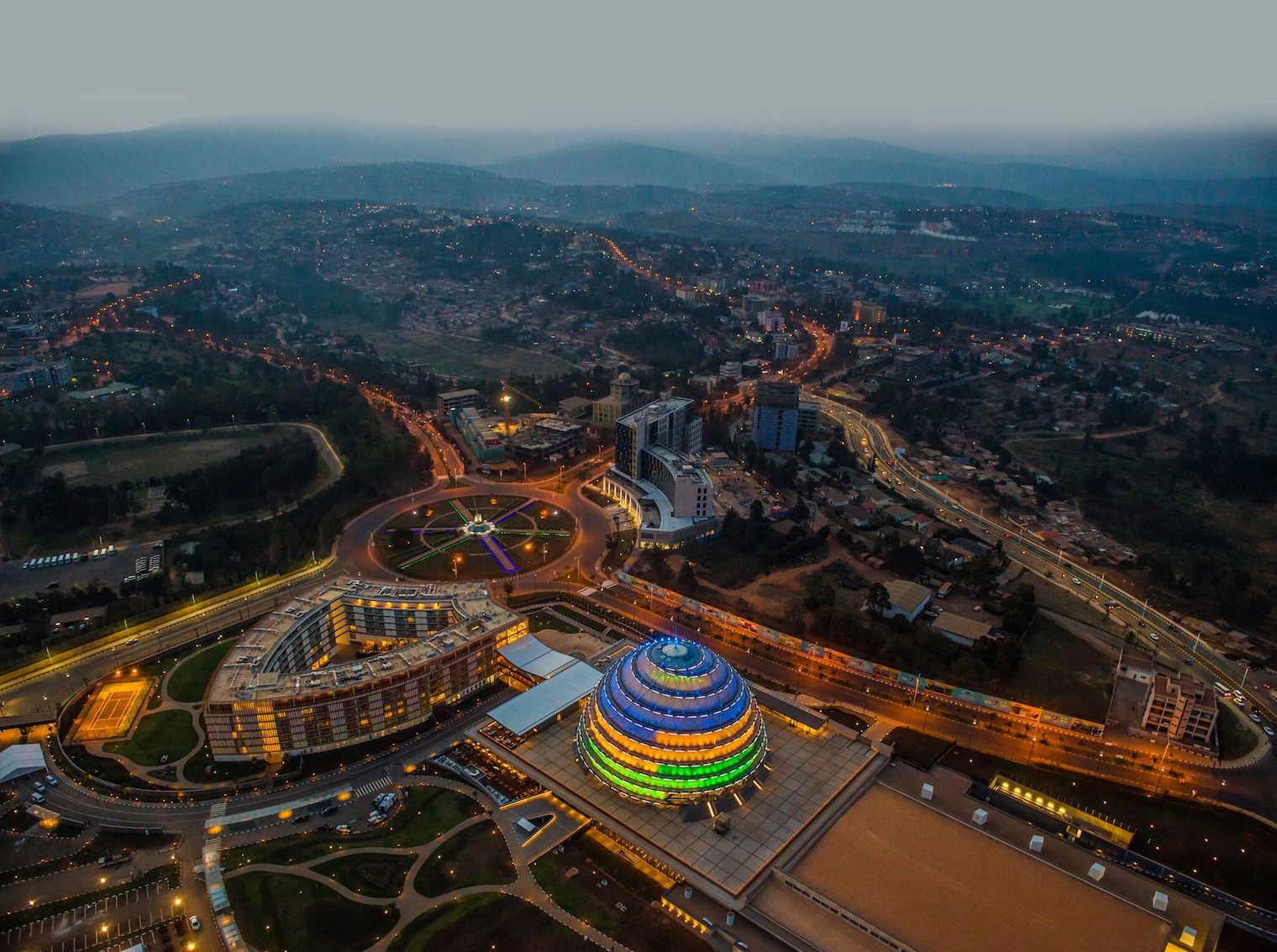 Aerial view of Kigali