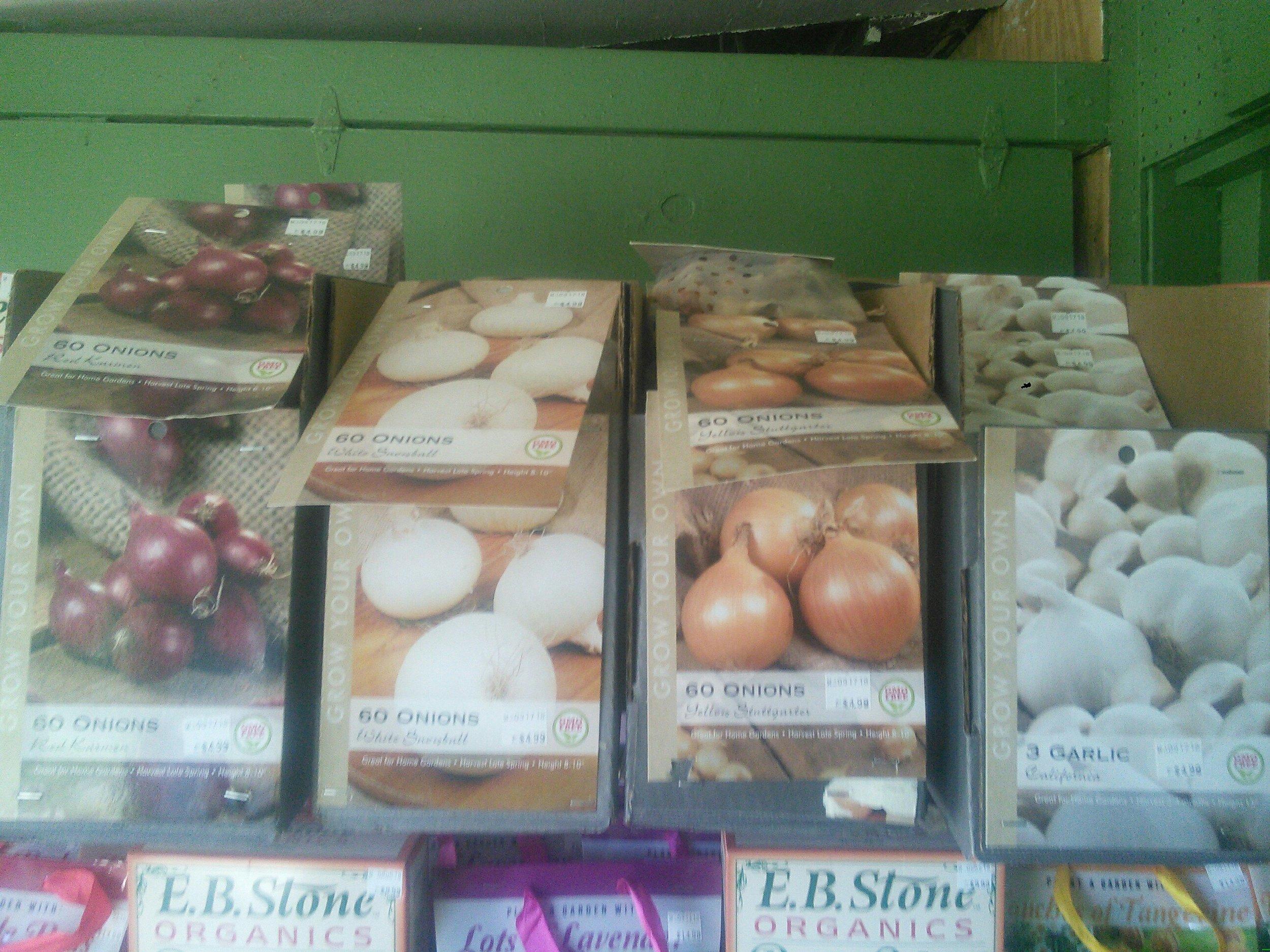 Onion and Garlic Sets