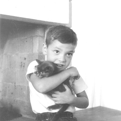 The author as a young boy in his Los Angeles home.