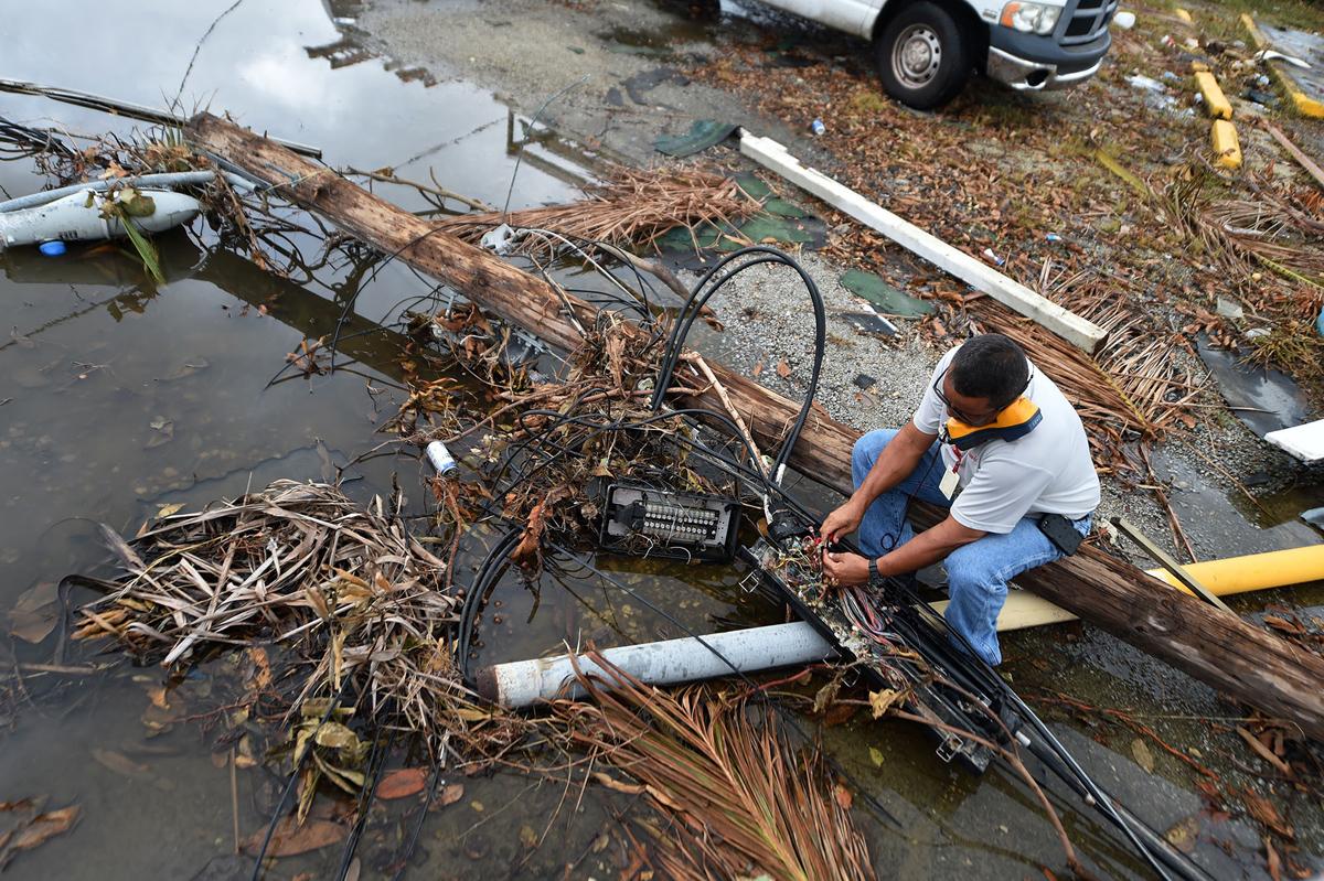 Downed power lines needed repair by the perpetually-understaffed PREPA