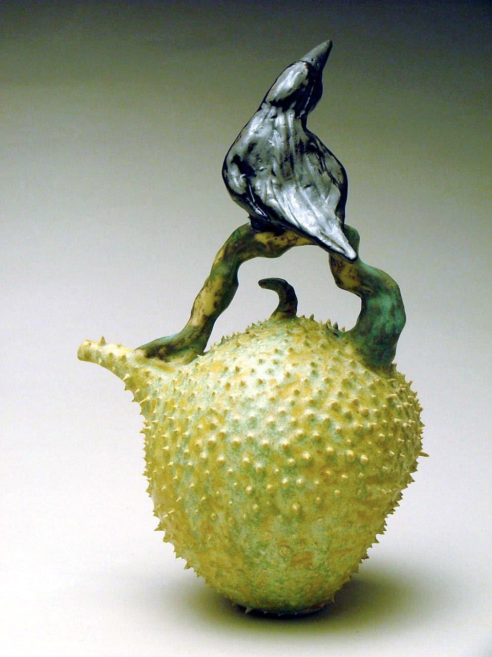 C-04 | Prickle Pod Teapot with Crow ($500)