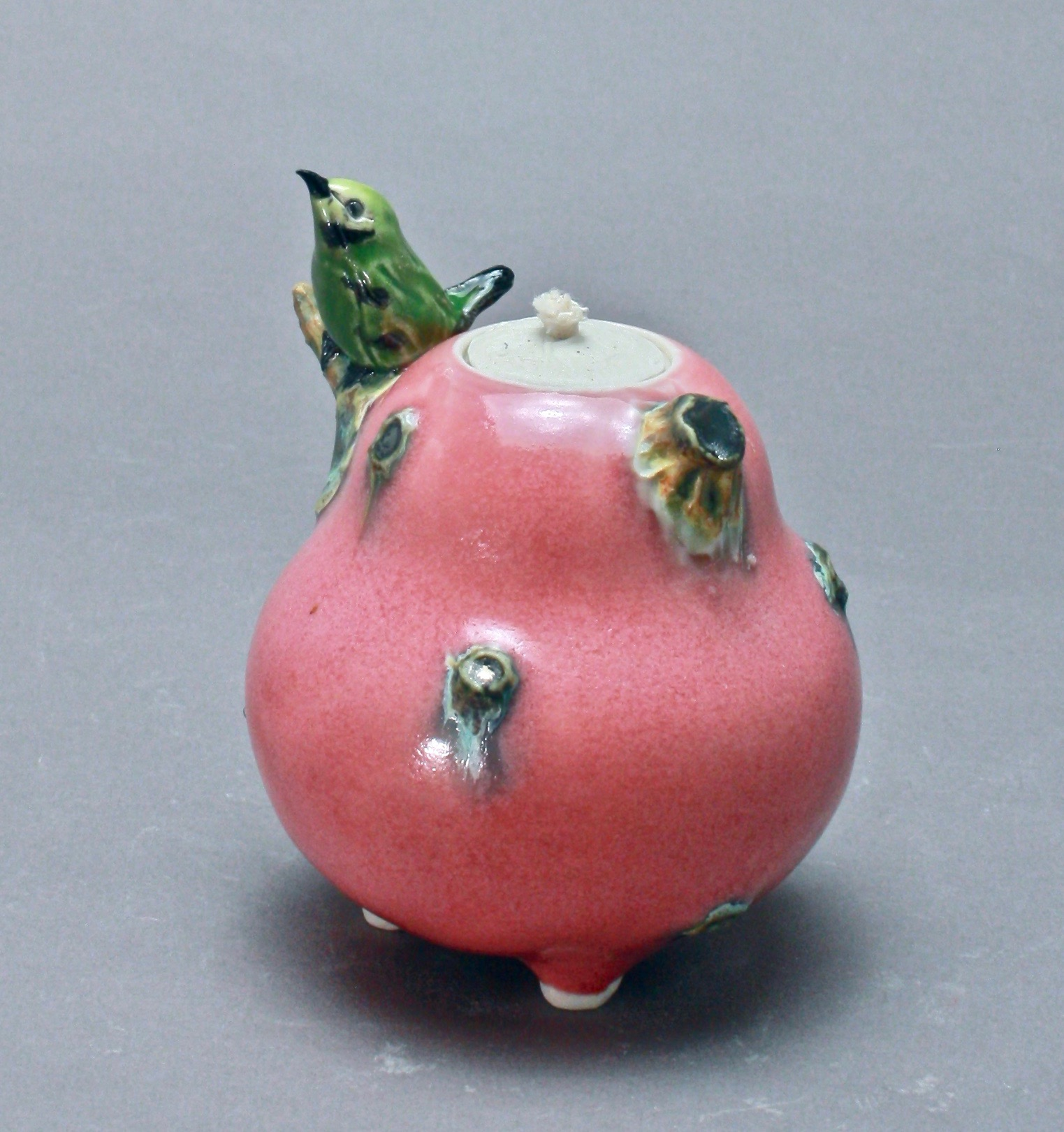 OL-10 | Pink Oil Lamp with Manakin ($150)