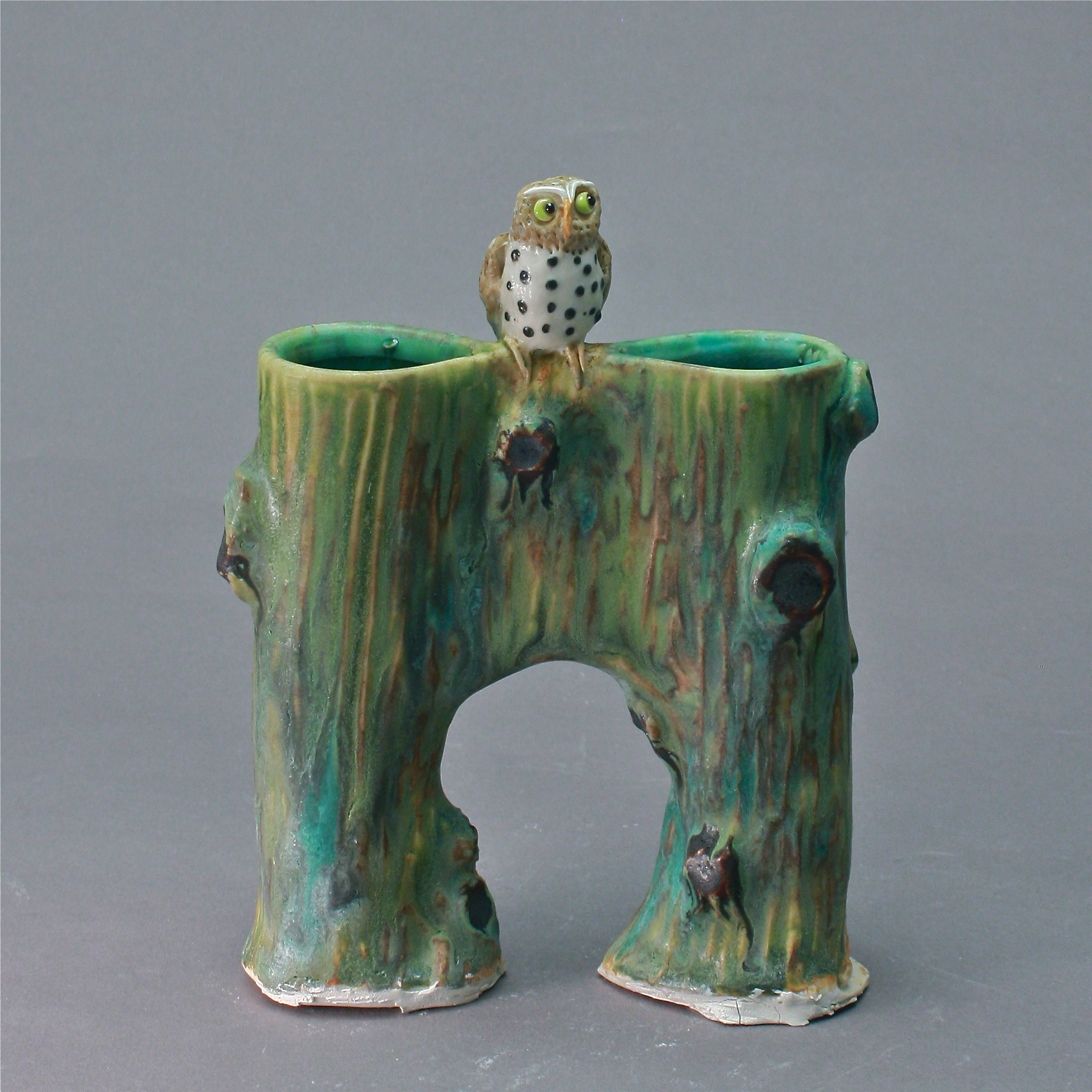 V-23 |  Bridge Vase with Owl ($185)