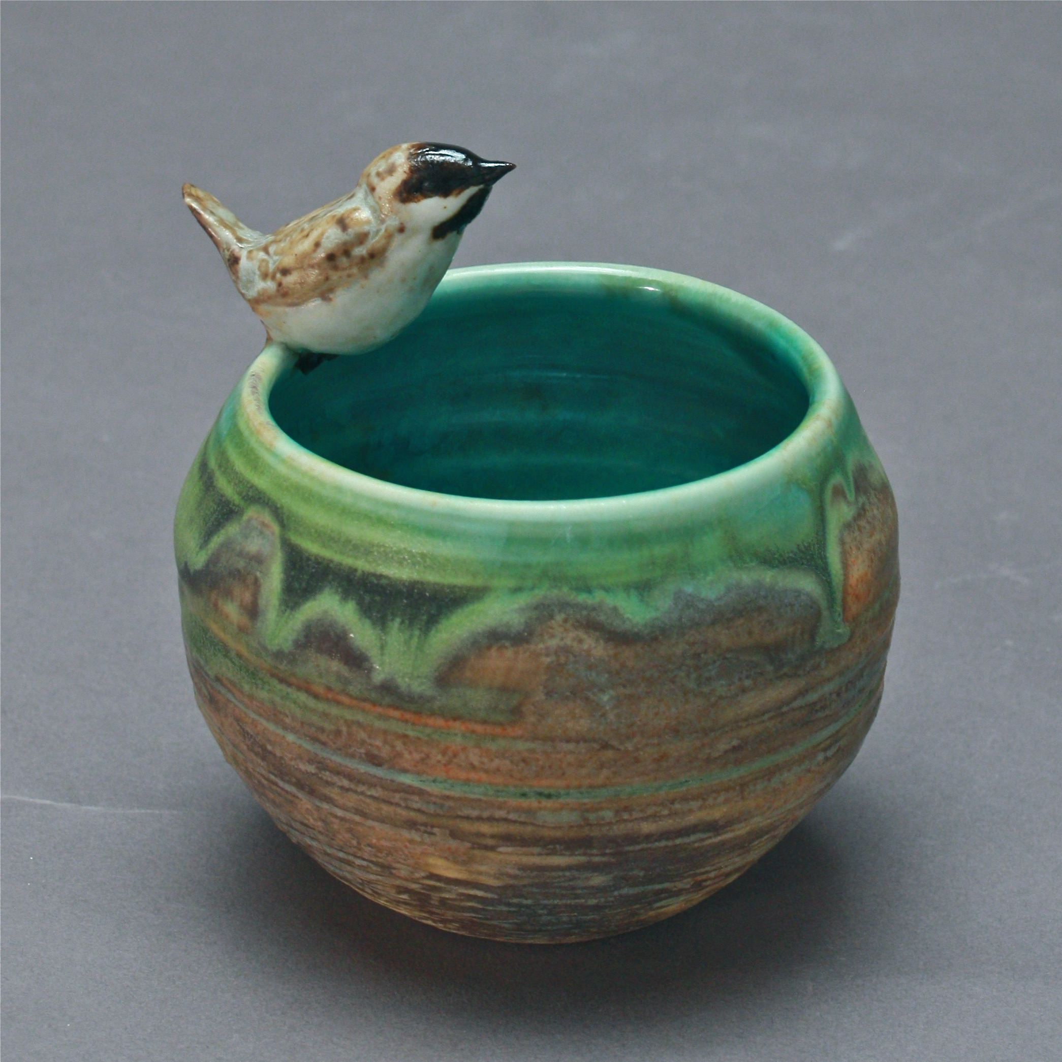 V-48 |  Nest Bowl with Chickadee ($70)