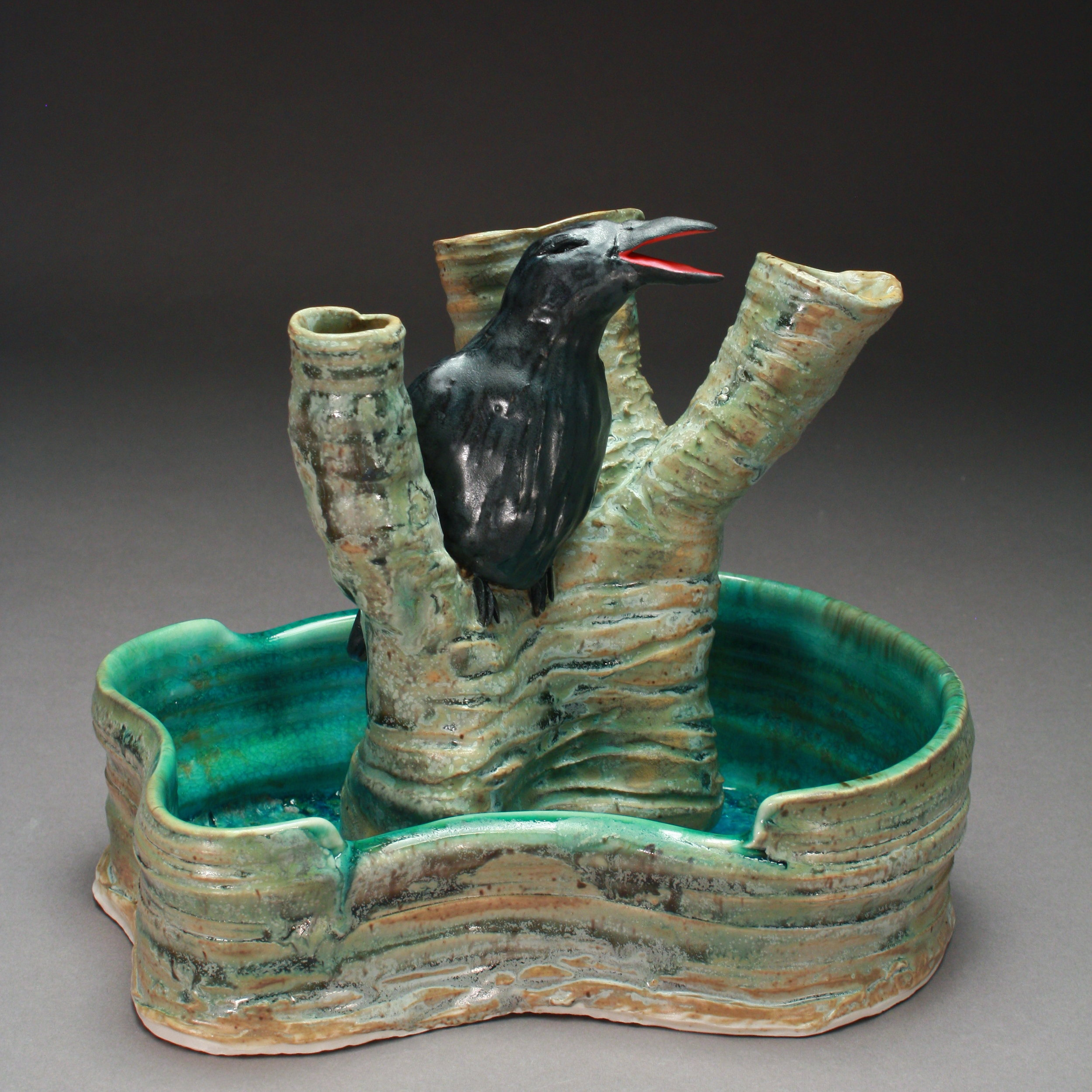 FF-11 | Tree Flower Frog and Basin with Crow ($250)