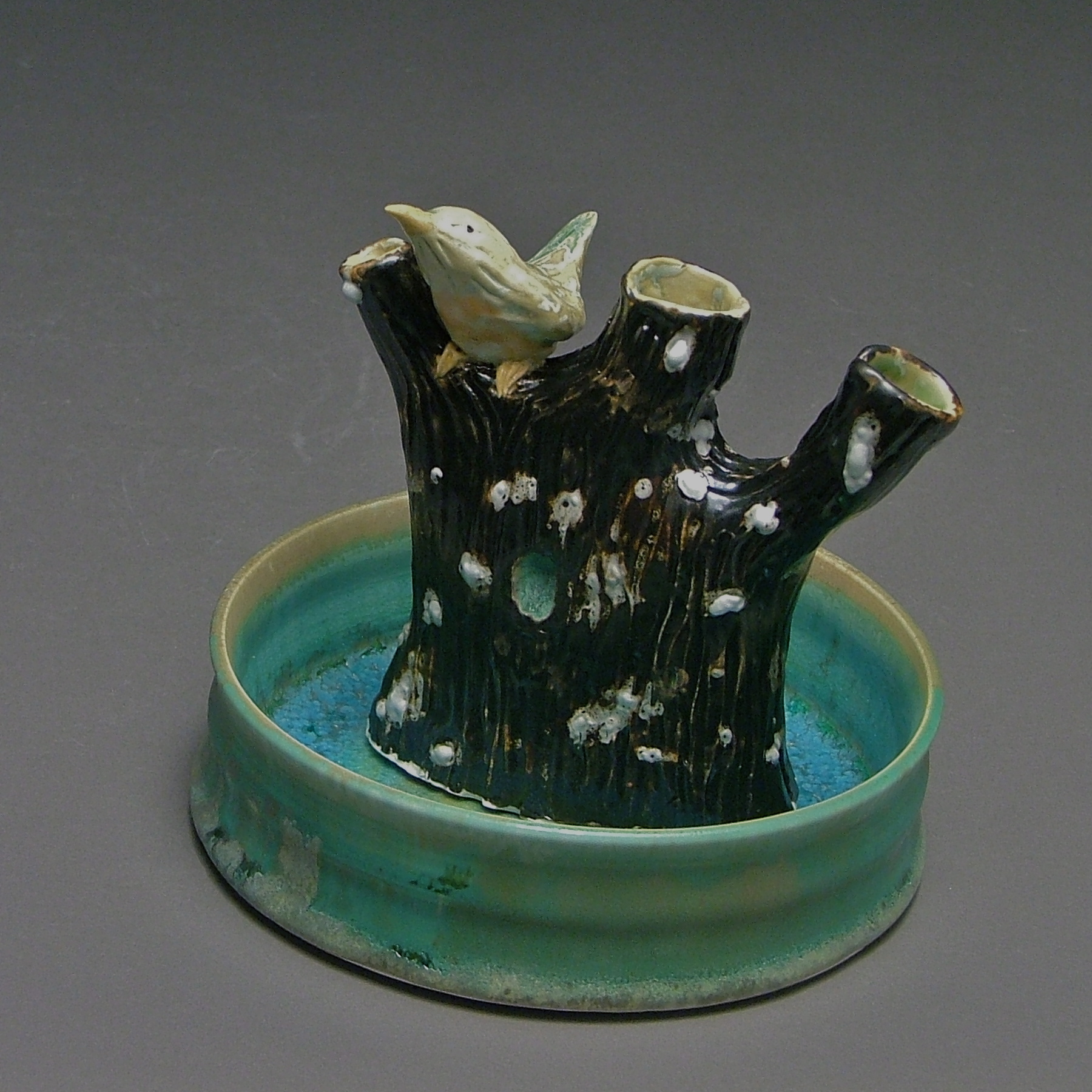 FF-10 | Tree Flower Frog and Basin with Robin ($175)