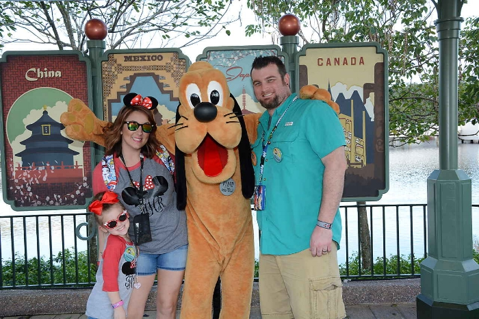 Here is me and my little family at the happiest place on earth!