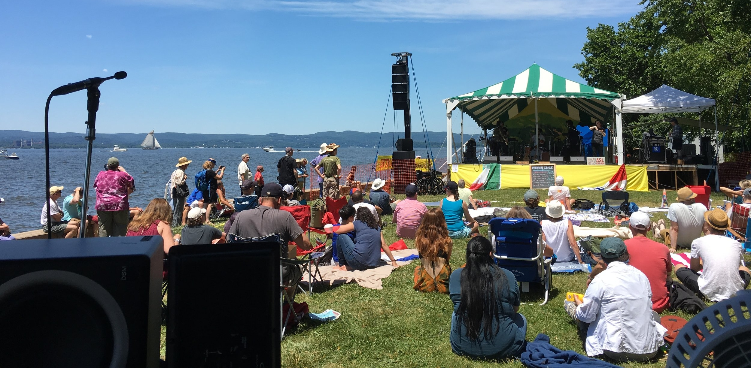 Hudson Stage at the Clearwater Festival.