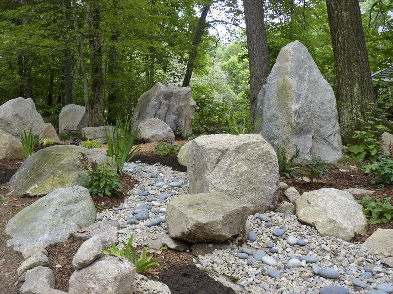 rock garden dry streambed