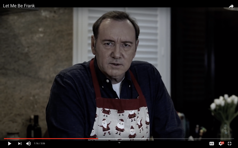 Kevin Spacey in  Let Me Be Frank