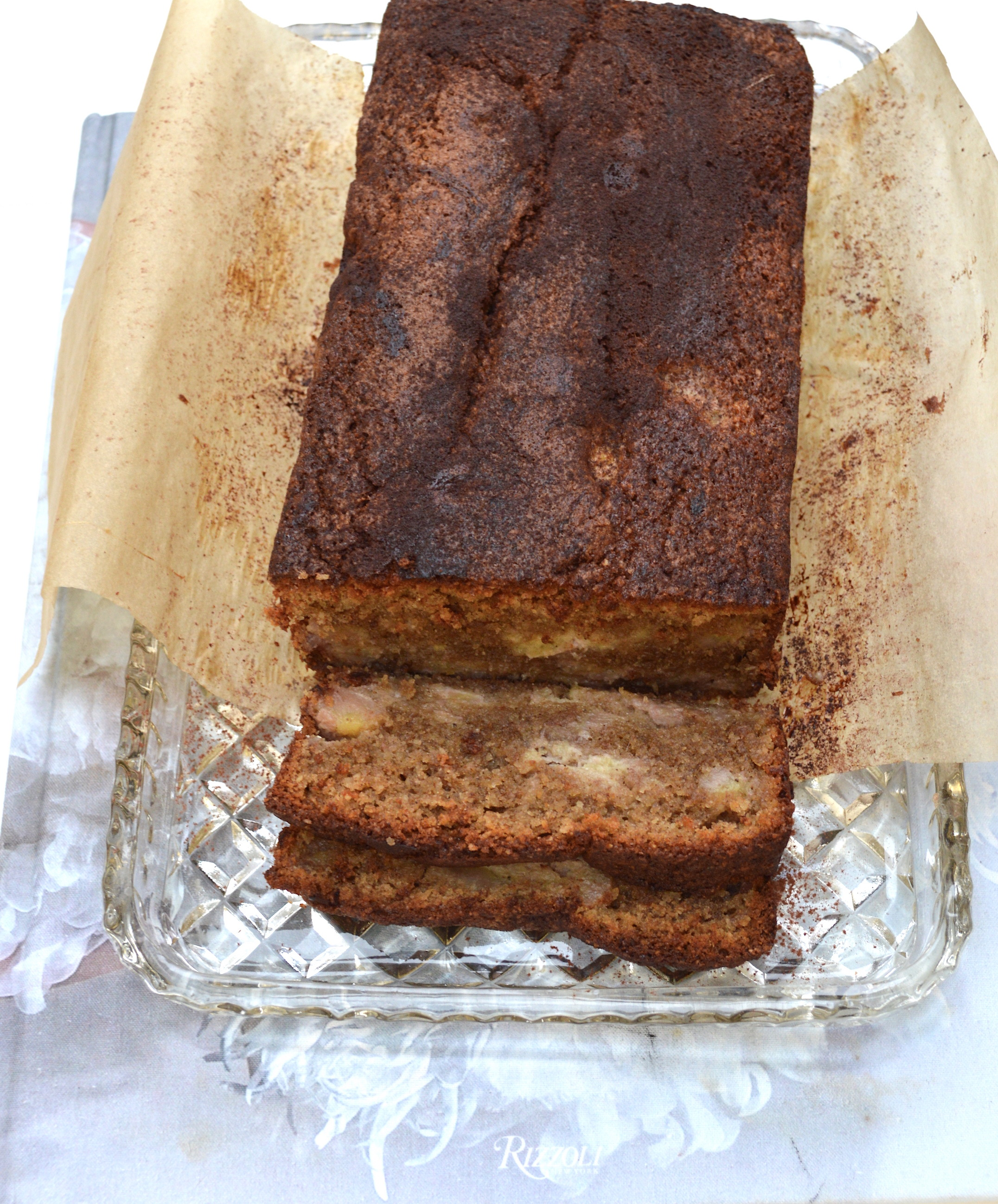 This is a classic banana bread but instead of normal wheat flour I have swapped it for ground almonds and spelt flour. You could swap the whole thing for ground almonds if you wanted to make it gluten-free and I sometimes like throwing in 50g almond flakes, walnuts or roughly chopped dark chocolate. However, I have been cooking a client and he prefers it a little more straight forward and its still pretty addictive with the recipe below. It is the perfect loaf to bake over the weekend.  Ingredients:  110g unsalted butter, soft and cut into cubes  225g muscovado sugar  100g ground almonds  90g spelt flour  small pinch of sea salt  1/2 (level) tsp baking powder  1/2 (level) tsp bicarbonate of soda  2 (level) tsp cinnamon powder  350g ripe bananas (roughly 3-4)  85g buttermilk / milk with a few drops of lemon juice / plain yoghurt  1 tsp vanilla extract  2 medium free-range eggs, lightly beaten  Preheat the oven to 170 degrees on the fan setting and grease and line a standard loaf tin (21cm long, 11cm wide and 7cm high) with baking parchment.  In a large mixing bowl add the butter and sugar and beat together with an electric hand whisk until light and fluffy. This will take about 5 minutes. Then beat in a little of the beaten eggs followed by a little of the dry ingredients (ground almonds, spelt flour, sea salt, baking powder, bicarbonate of soda, cinnamon powder mixed together). Make sure everything is mixed in well before adding in more eggs and flour. Continue until all is incorporated and you have a light brown batter.  In a separate bowl add the bananas and buttermilk and use a fork to roughly mash everything together. It is supposed to be a little lumpy and textured and then use a spatula to carefully fold this into the other batter. Do not over work and just take a few seconds to combine the two mixtures. Scrape into the prepared tin and into the oven for 40-45 minutes. Check at this point to see if the top is golden brown and then remove from the oven and cove