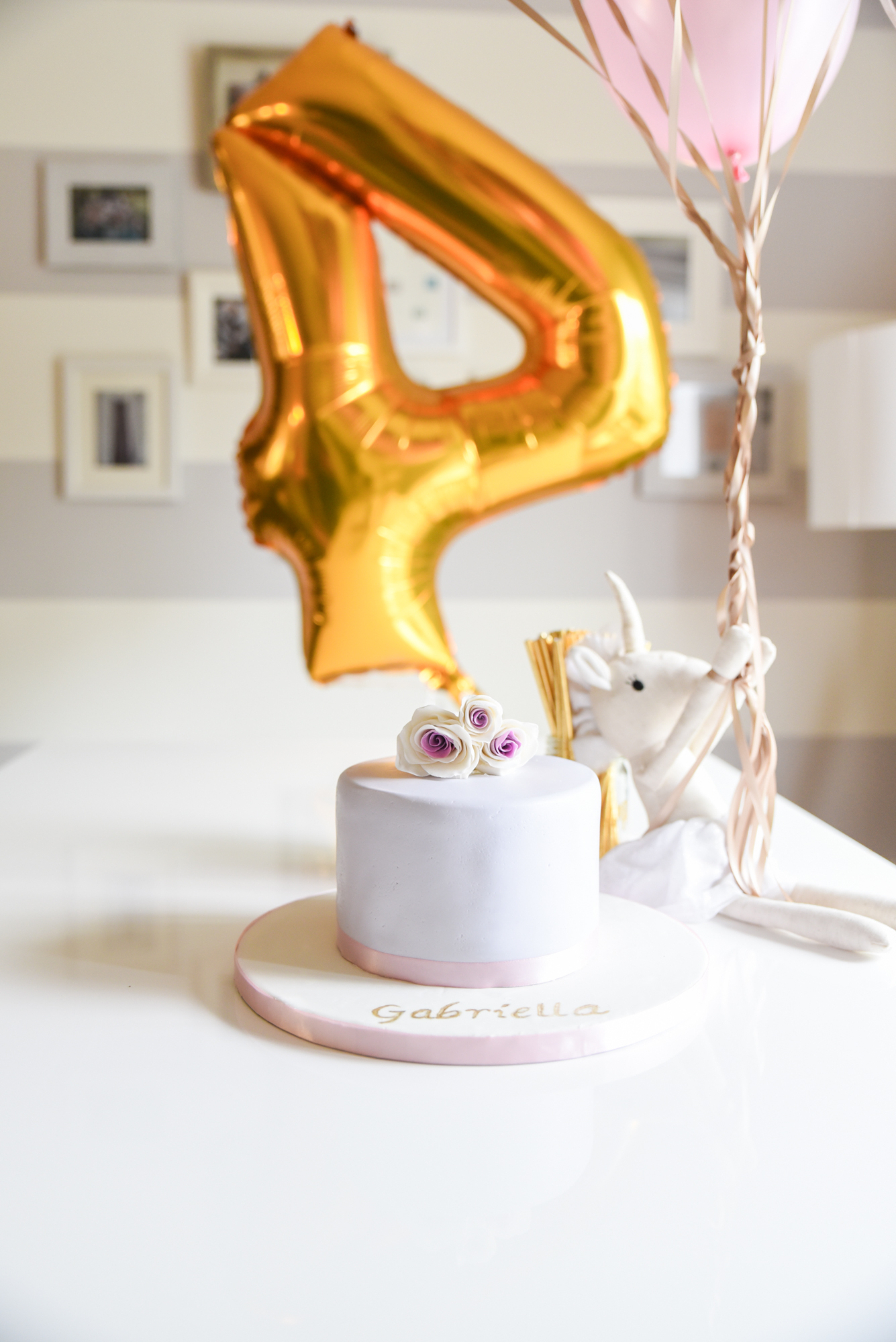 Intimate 4th Birthday, Vegan Cake By  Golden Dome Cakes