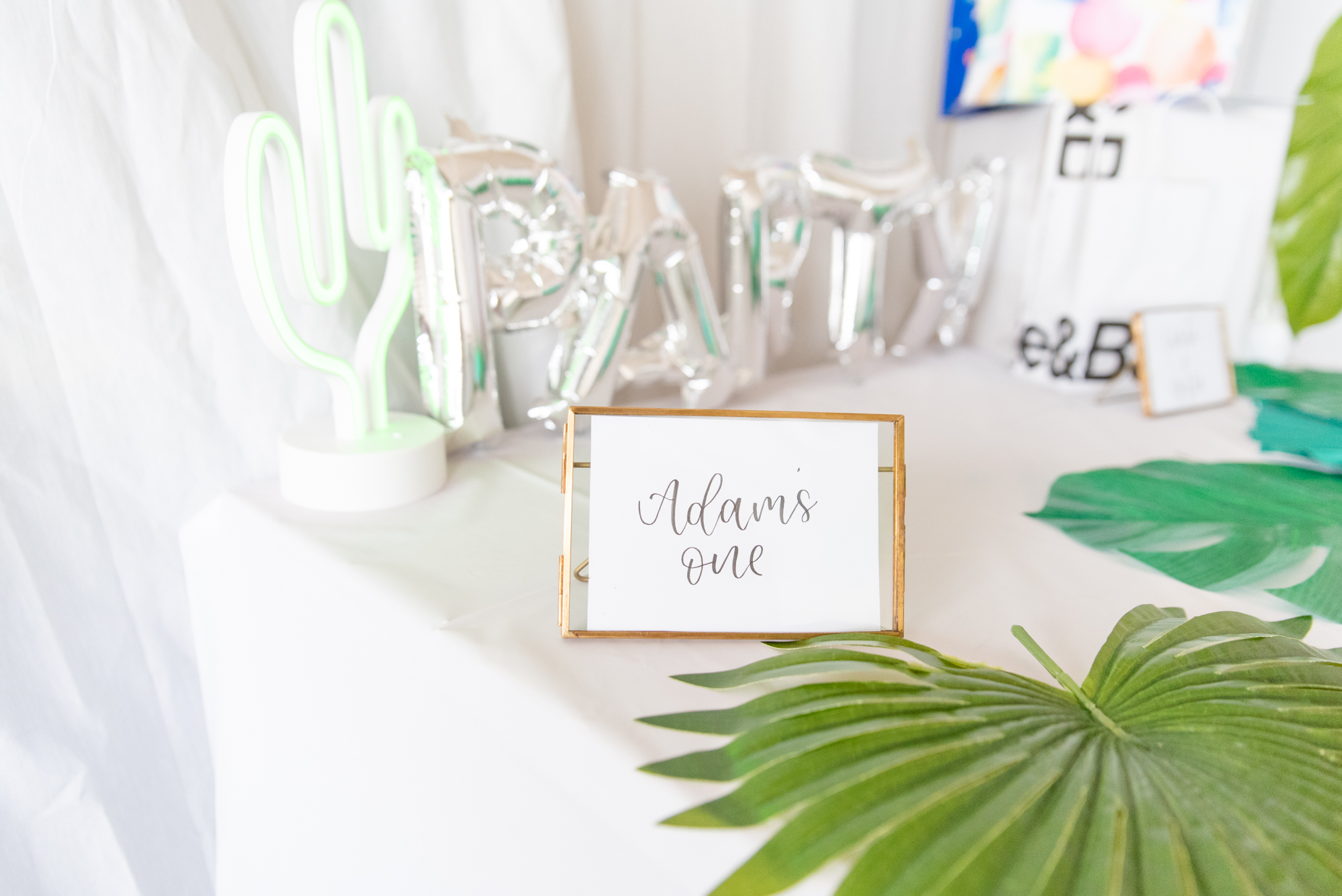 Adam turns ONE, Decor By  Boho Blush , Signs By  The Letter J Creates