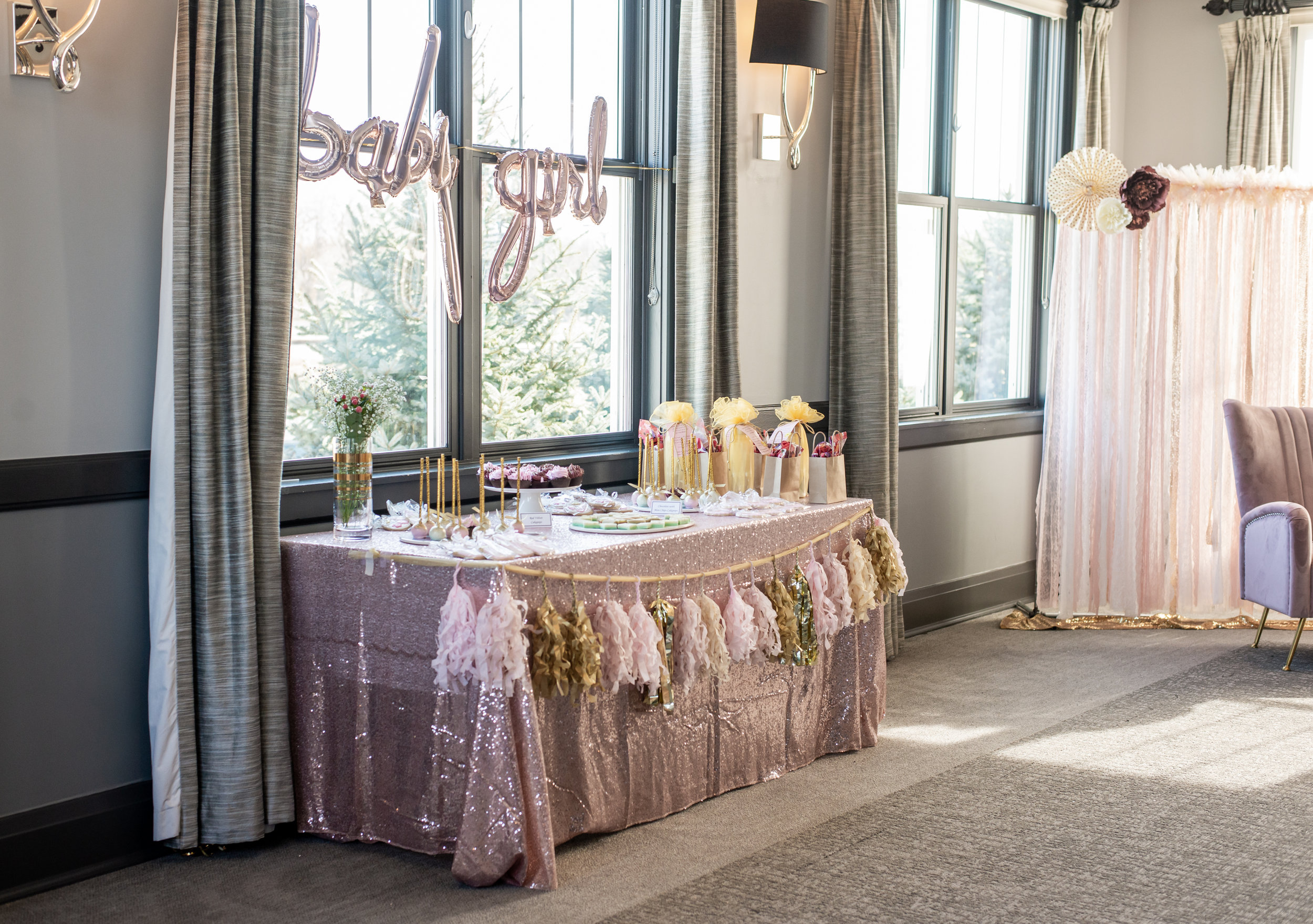 Beautiful Blush Baby Shower at  Cress Creek Country Club