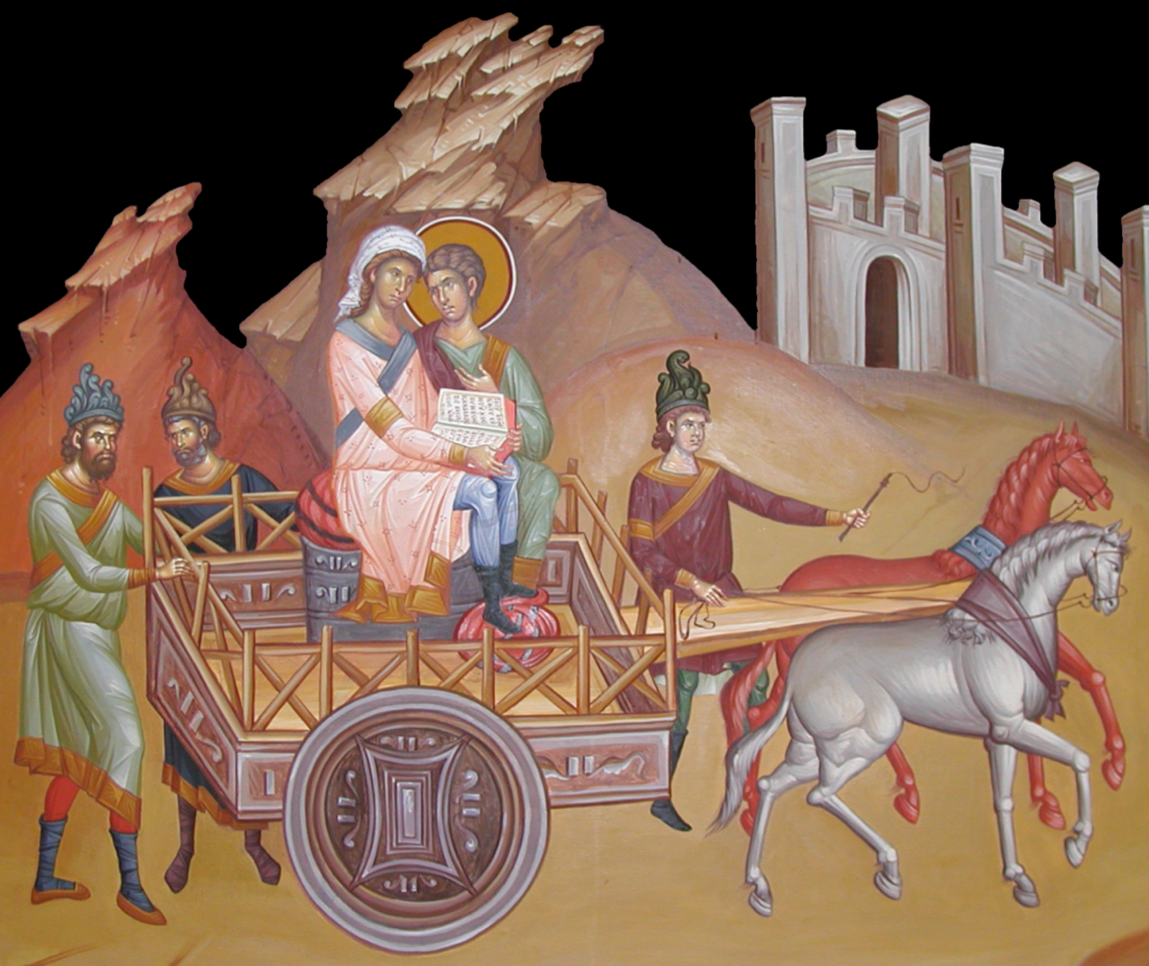 St. Philip opens the Scriptures to the Ethiopian (Acts 8:26-40).