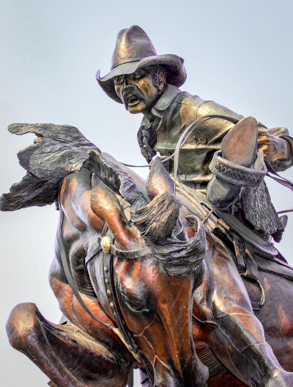 """Attitude Adjustment"" bronze sculpture - Joseph, Oregon - Photo by Ron Huckins"