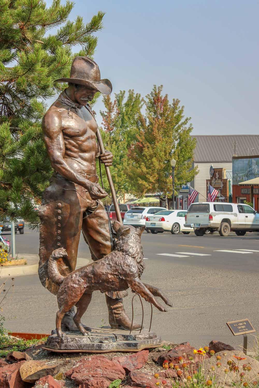 """All Around Cowboy"" sculpture in Joseph, Oregon - Photo by Ron Huckins"