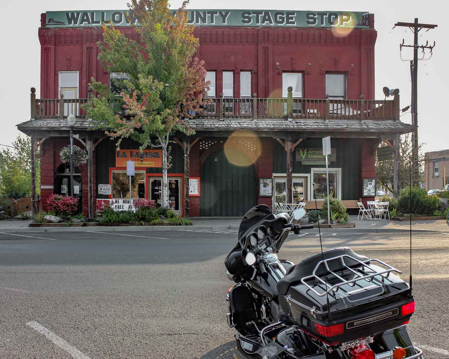 Arrowhead Chocolates in the old Wallowa County Stage Stop building - Photo by Ron Huckins