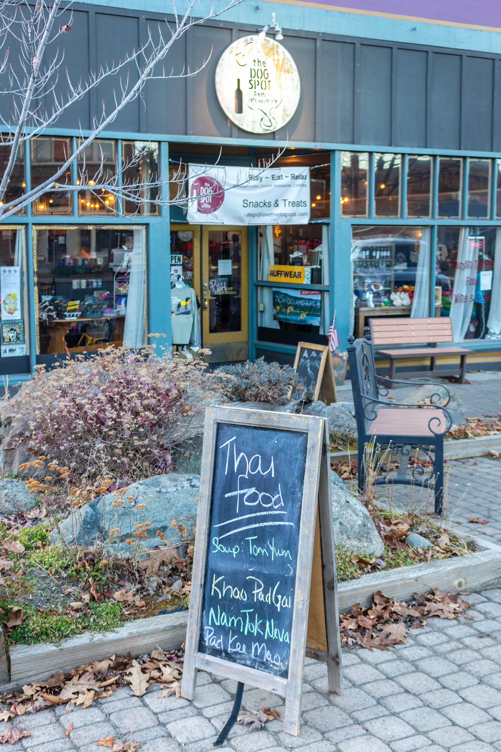 The Dog Spot… really good food in downtown Joseph, Oregon - Photo by Ron Huckins