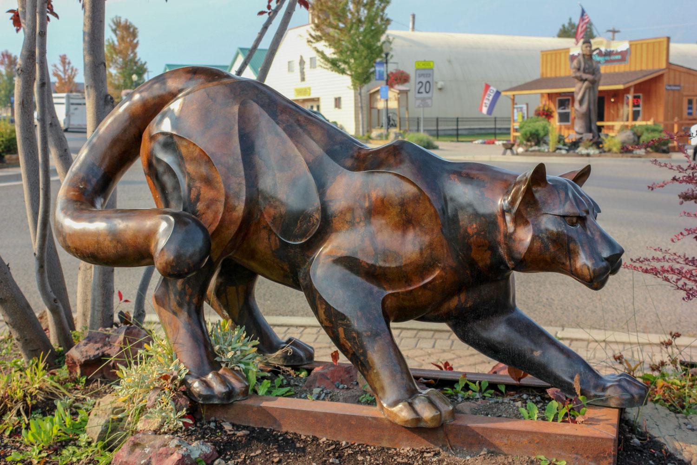 Bronze Cougar - Joseph, Oregon - Photo by Ron Huckins