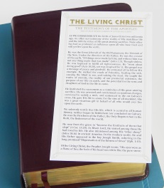 Bookmark - The Living Christ, Click Here!